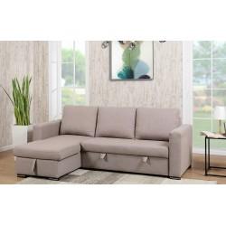 Canapé d'angle convertible et réversible Holly gris