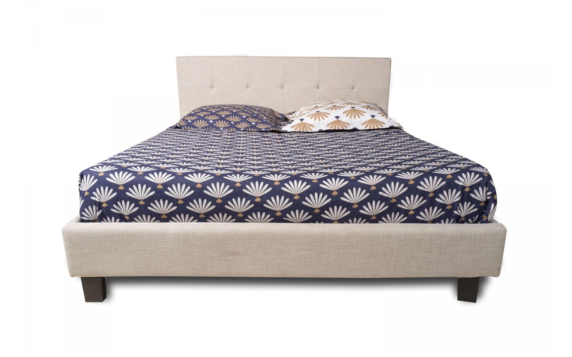 lit 2 personnes avec sommier inclus cozy top d co. Black Bedroom Furniture Sets. Home Design Ideas