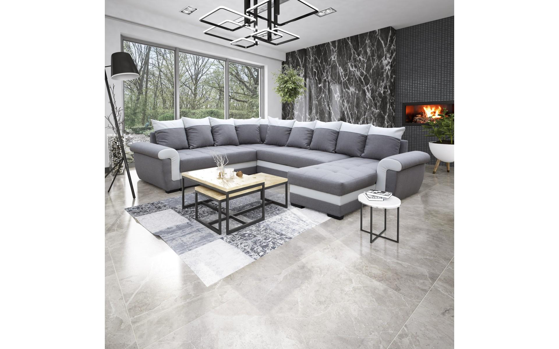 Cadre Au Dessus Du Canapé canapé d'angle réversible mocca gris clair/blanc - top déco