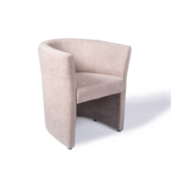 Fauteuil Omer de type cabriolet taupe