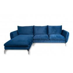 Canapé d'angle gauche bleu marine LAWARD