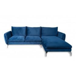 Canapé d'angle droit bleu marine LAWARD