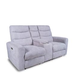 Canapé éléctrique relax 2 places gris clair KITTEN