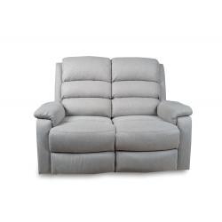 Canapé relax 2 places gris clair Malvinia