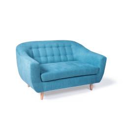 Canapé 2 places bleu RAE