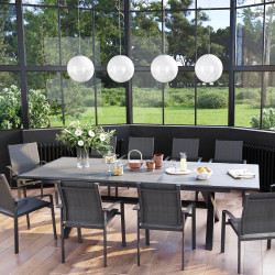 Table de jardin extensible Axiome 10 places (Exclusivité magasin)