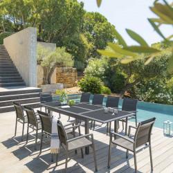 Table de jardin extensible Azua Graphite 10 places (Exclusivité magasin)