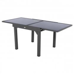 Table de jardin extensible Piazza Anthracite & Graphite 8 places (Exclusivité magasin)
