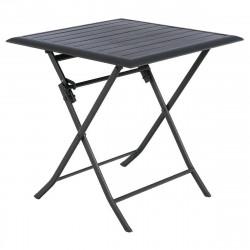 Table de jardin pliante carrée Azua Graphite (Exclusivité magasin)