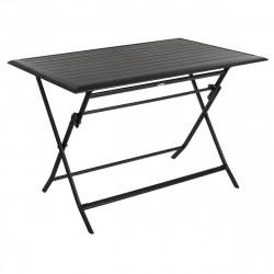 Table de jardin pliante rectangulaire Azua Graphite 4 places (Exclusivité magasin)