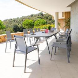 Table de jardin extensible Pulpy Gris quartz 12 places (Exclusivité magasin)