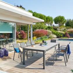 Table de jardin extensible Evasion Seigle & Graphite 10 places (Exclusivité magasin)
