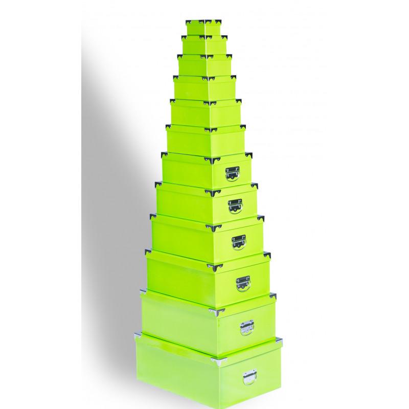 Boîtes de rangement vertes par lot de 12 - Top Déco